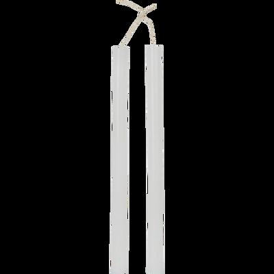 Bougie duo de flambeau blanc ventoux H30cm-BEJAIA
