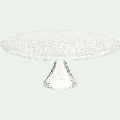 Présentoir à gâteau en verre transparent H11cm-VESLY