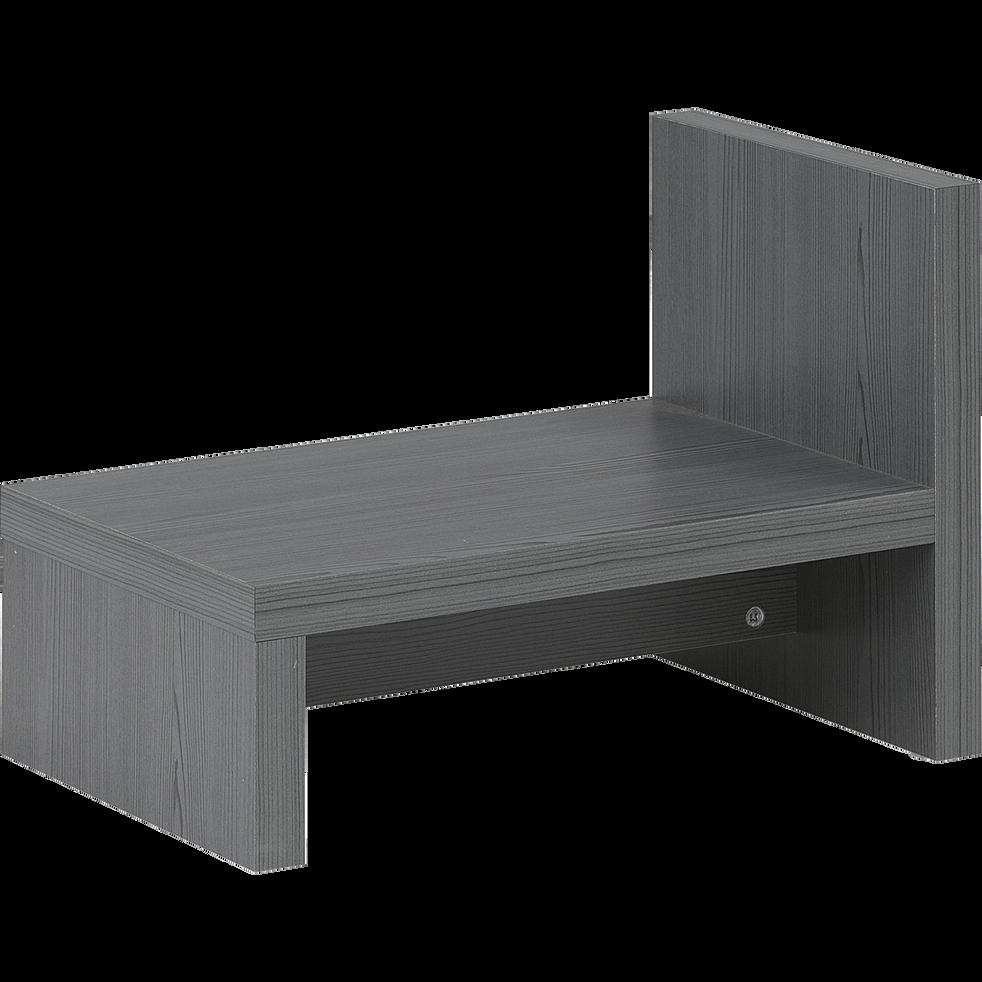 Table de chevet grise foncée-BROOKLYN