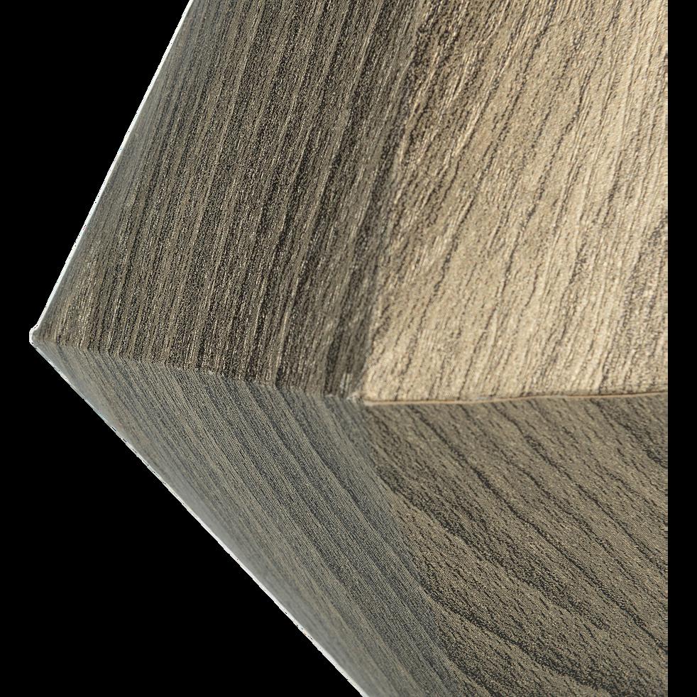 Suspension diamant en papier gris H18cm-GUIGOU