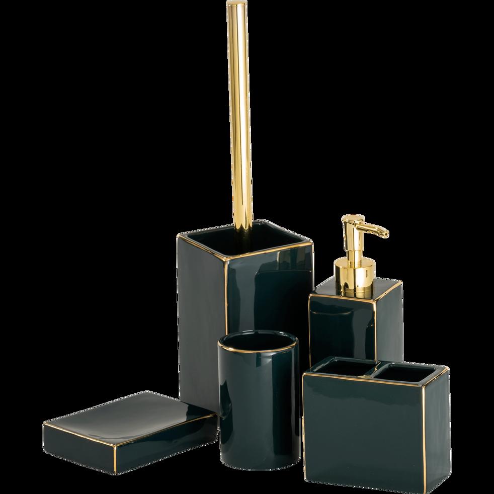 Distributeur de savon vert et doré-GARDENIA