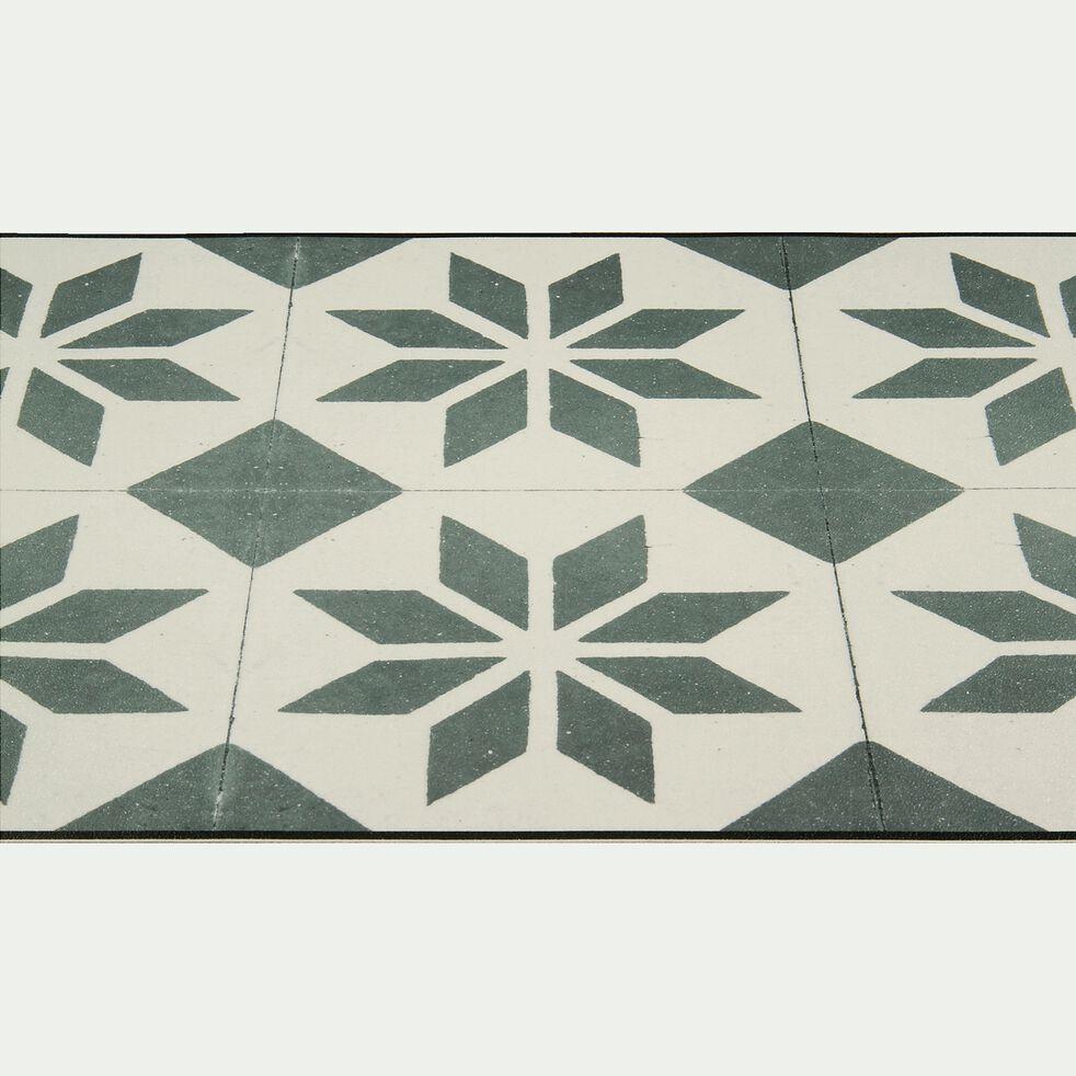 Tapis de couloir en vinyle - gris et blanc 60x200cm-SOLENE