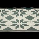 Tapis de couloir en vinyle gris et blanc 60x200cm-SOLENE