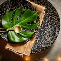 Assiette plate en grès noir D27cm-GINKO