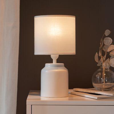 Lampe à poser en céramique blanc H29cm-RODRIG