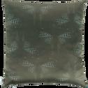 Coussin en satin vert imprimé 40x40cm-ATOSIA