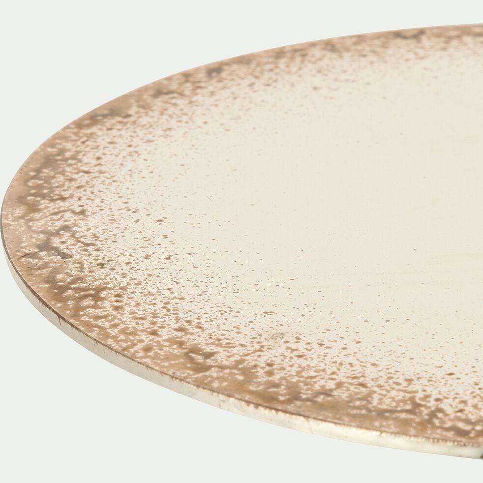 Plateau fantaisie en verre - marron 20x20x0,2cm-VALENTIN