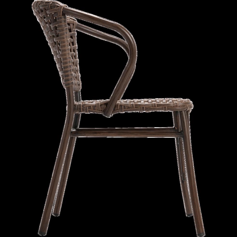 chaise de jardin en aluminium brun bolzano chaises de. Black Bedroom Furniture Sets. Home Design Ideas