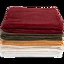 Plaid doux rouge sumac (plusieurs tailles)-ROBIN