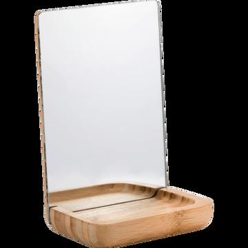 Miroir de salle de bains à poser rectangulaire-NAIS