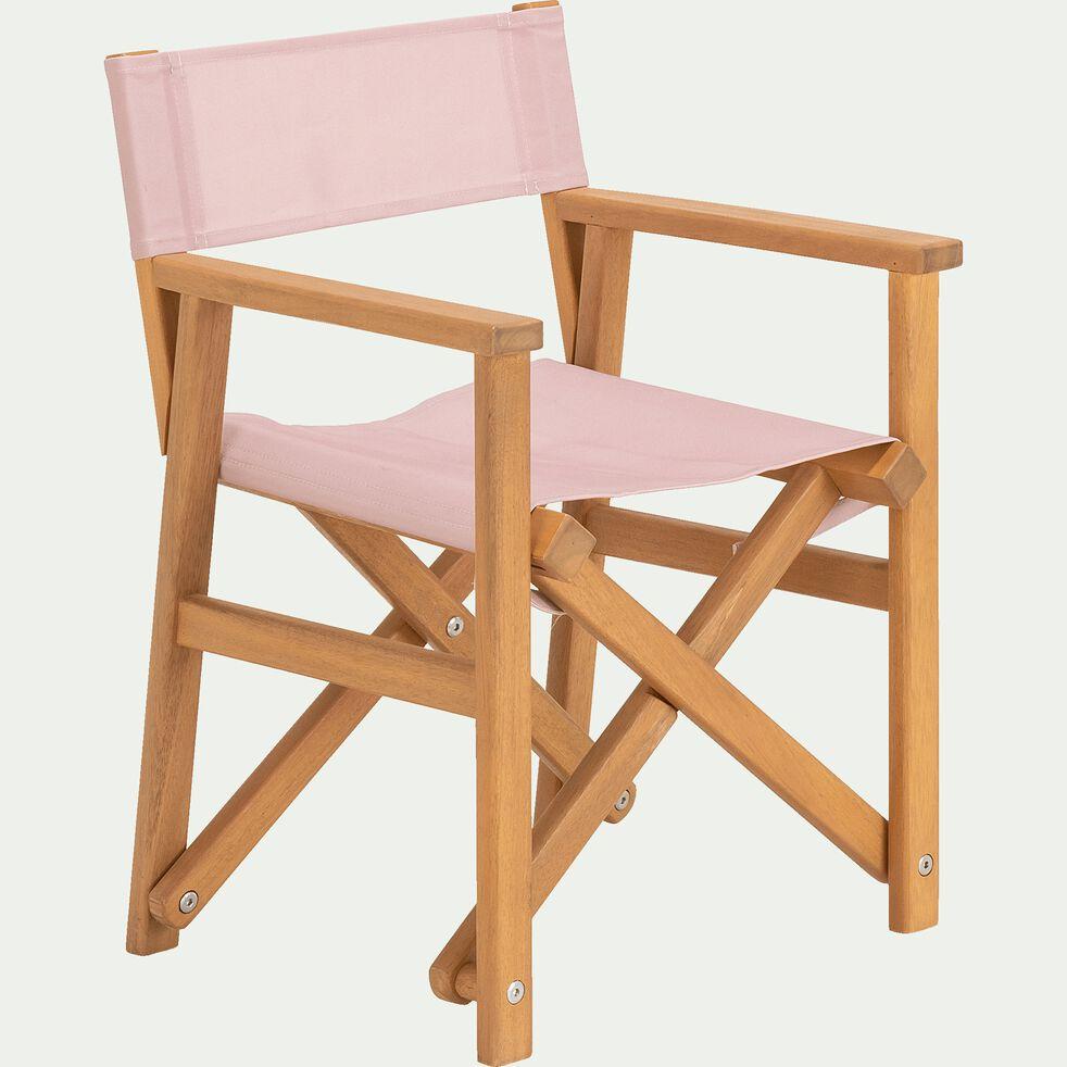Chaise de casting enfant en acacia - rose rosa-Luz
