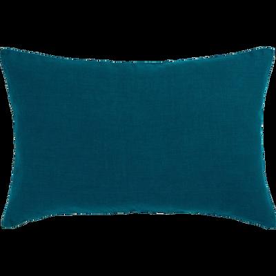 Coussin en lin lavé bleu figuerolles 40x60cm-VENCE