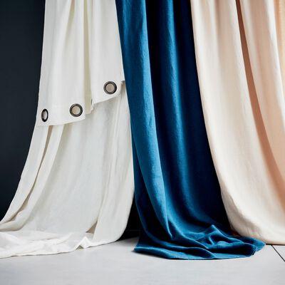 Rideau à oeillets en lin lavé blanc ventoux 140x280cm-VENCE