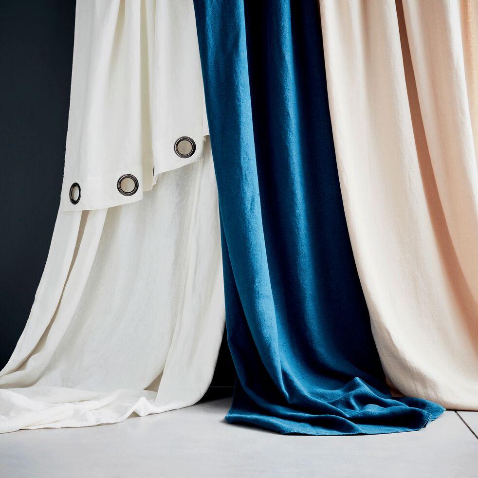 Rideau à œillets en lin lavé - blanc ventoux 140x280cm-VENCE