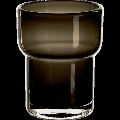 Verre à eau en verre gris 240ml-STEFANO