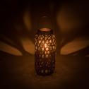Lanterne en bambou noir H44cm-Many