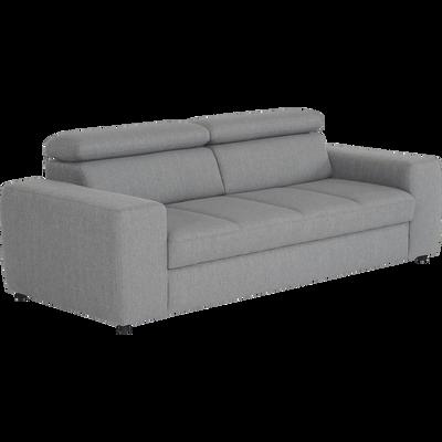 Canapé 3 places fixe gris clair-TONIN