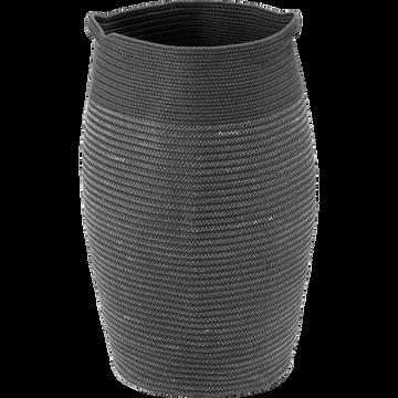 Panier à linge en coton gris D35xH65cm-Vincent