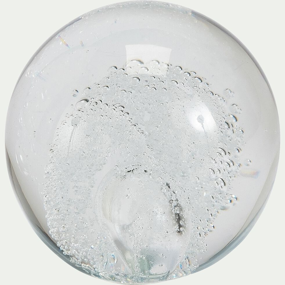 Boule décorative en verre - transparent D11cm-MARGARETA