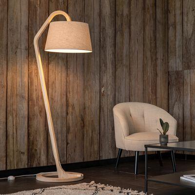 Pied de lampadaire en hêtre massif clair H162cm-Mokuzai