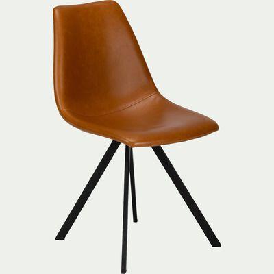 Chaise en simili noisette-MALBO