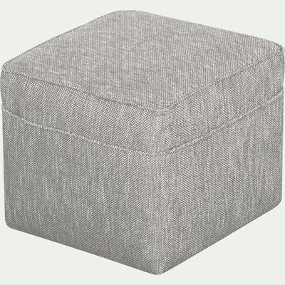 Pouf en tissu - gris borie-BARTHOLE