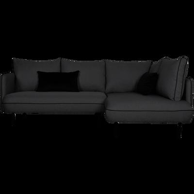 Canapé d'angle fixe droit gris restanque-SAOU
