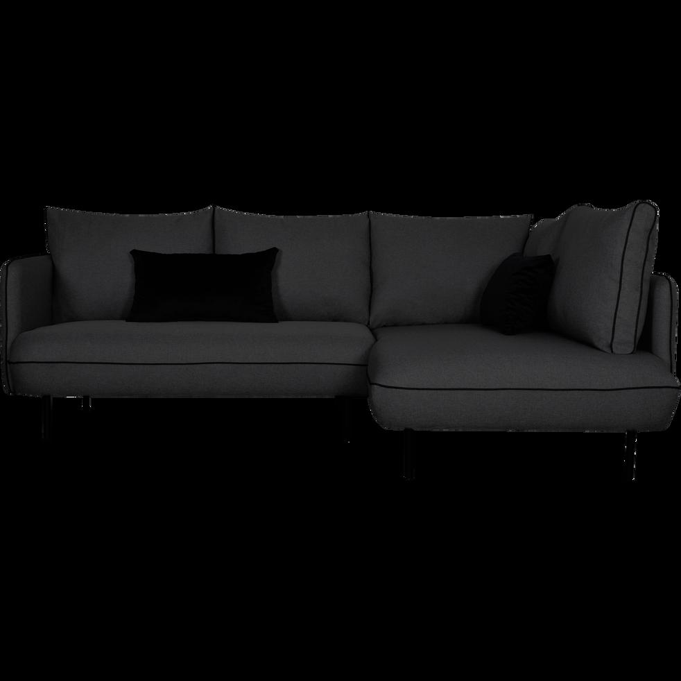 canap d 39 angle fixe droit gris restanque saou canap s. Black Bedroom Furniture Sets. Home Design Ideas