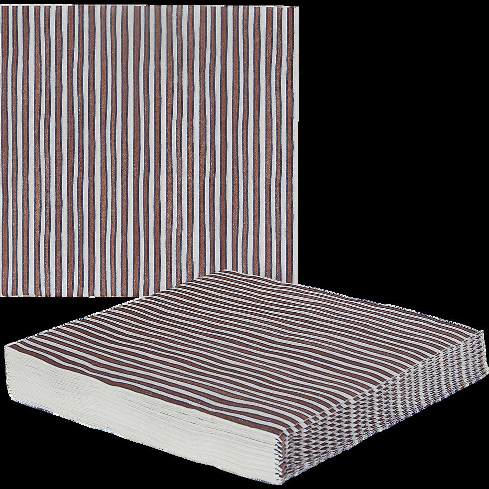 Lot de 20 serviettes intissés rouge à motifs 40x40cm-SIDI