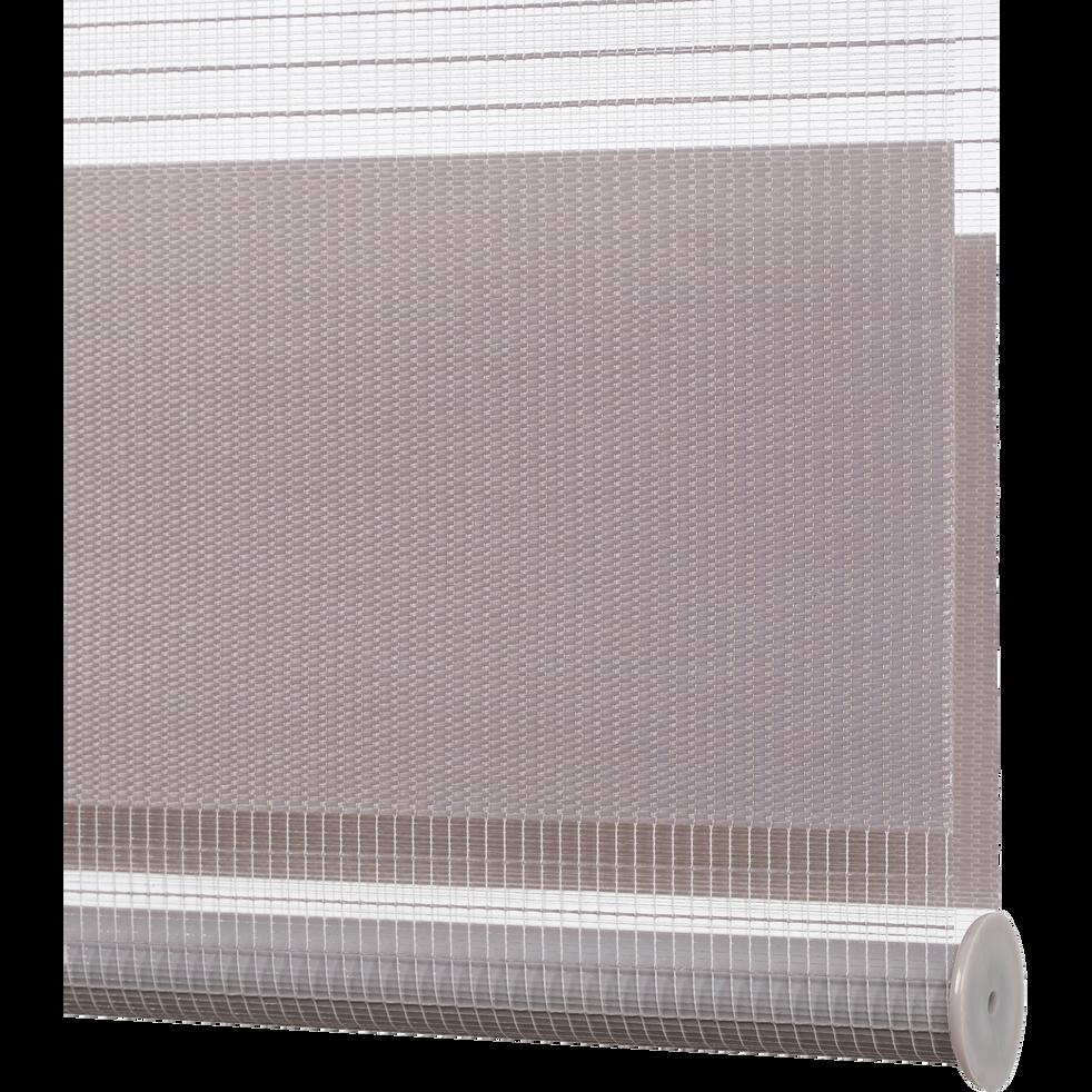 Store enrouleur tamisant épais gris 37x190cm-JOUR-NUIT