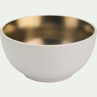 Coupelle en porcelaine blanche et dorée D11,3cm-GABRIEL
