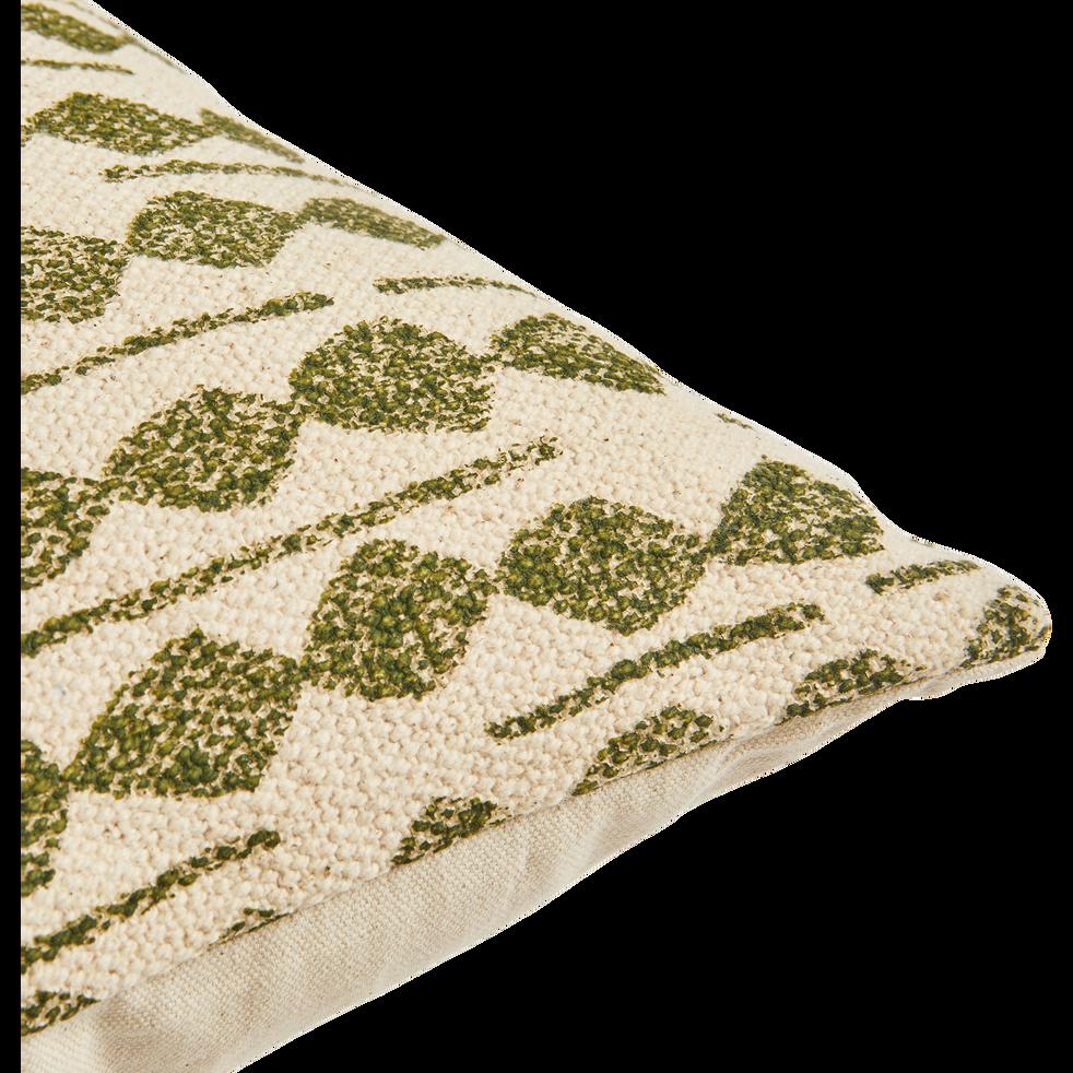 Coussin en coton à motifs vert cèdre 45x45 cm-BARRAS