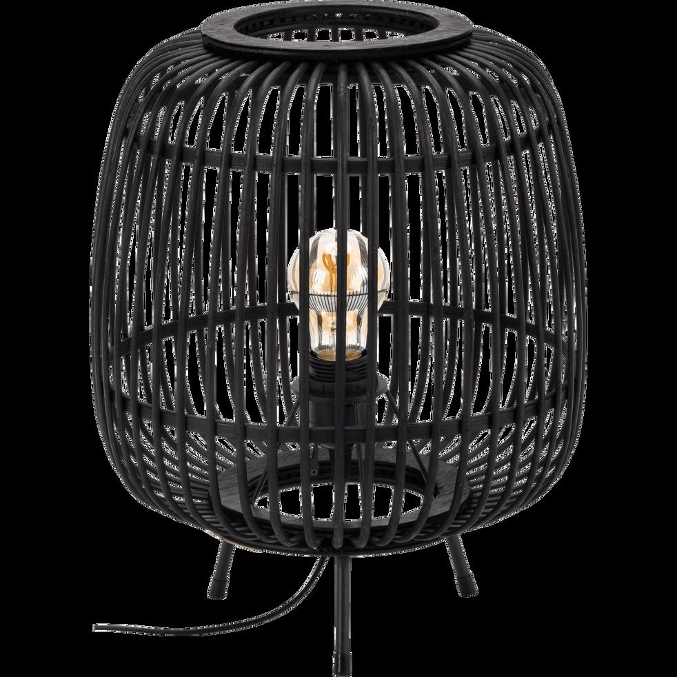 Lampe En Bambou Noir H37xd29cm Nimes Catalogue Storefront Alinéa