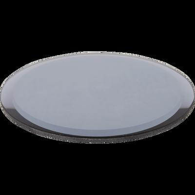 Plateau miroir rond gris D12,5cm-ARENAS