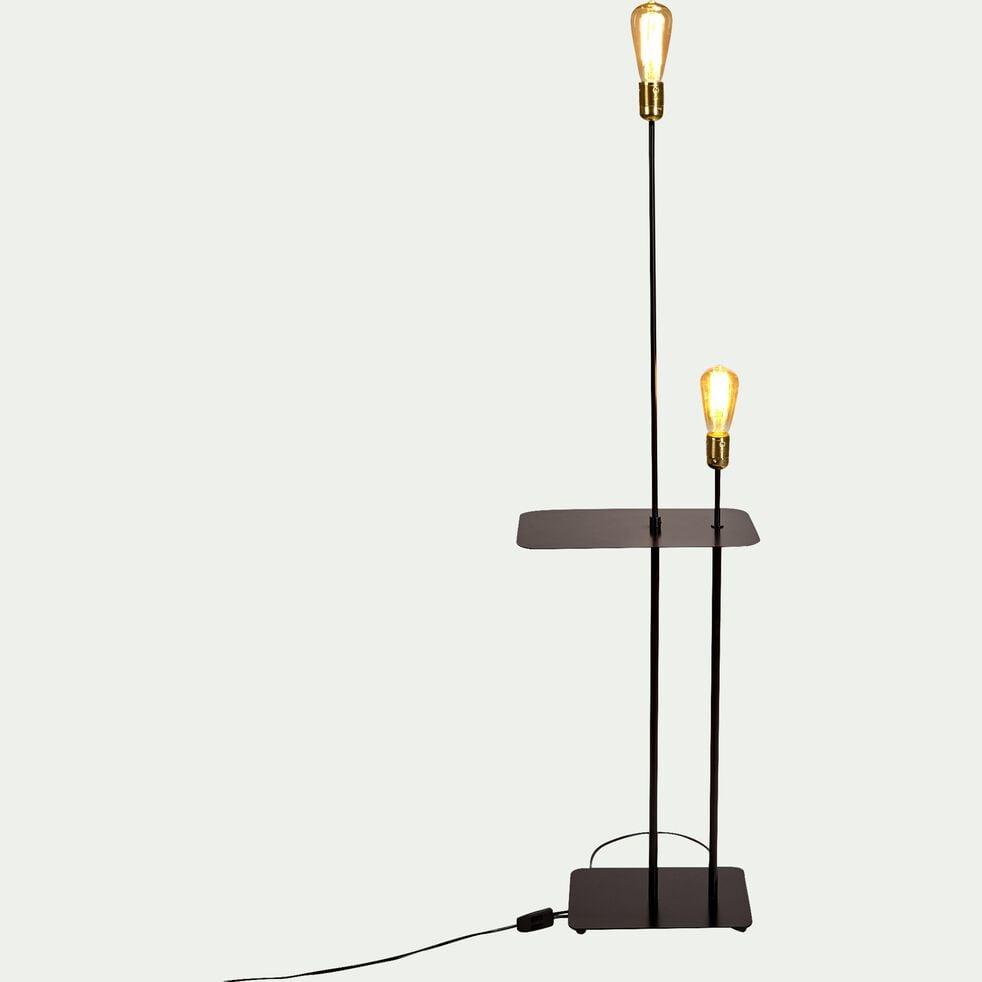 Lampadaire en métal - noir H135cm-LECTO