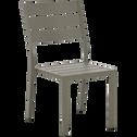 Chaise de jardin empilable en aluminium vert cèdre-ALEP