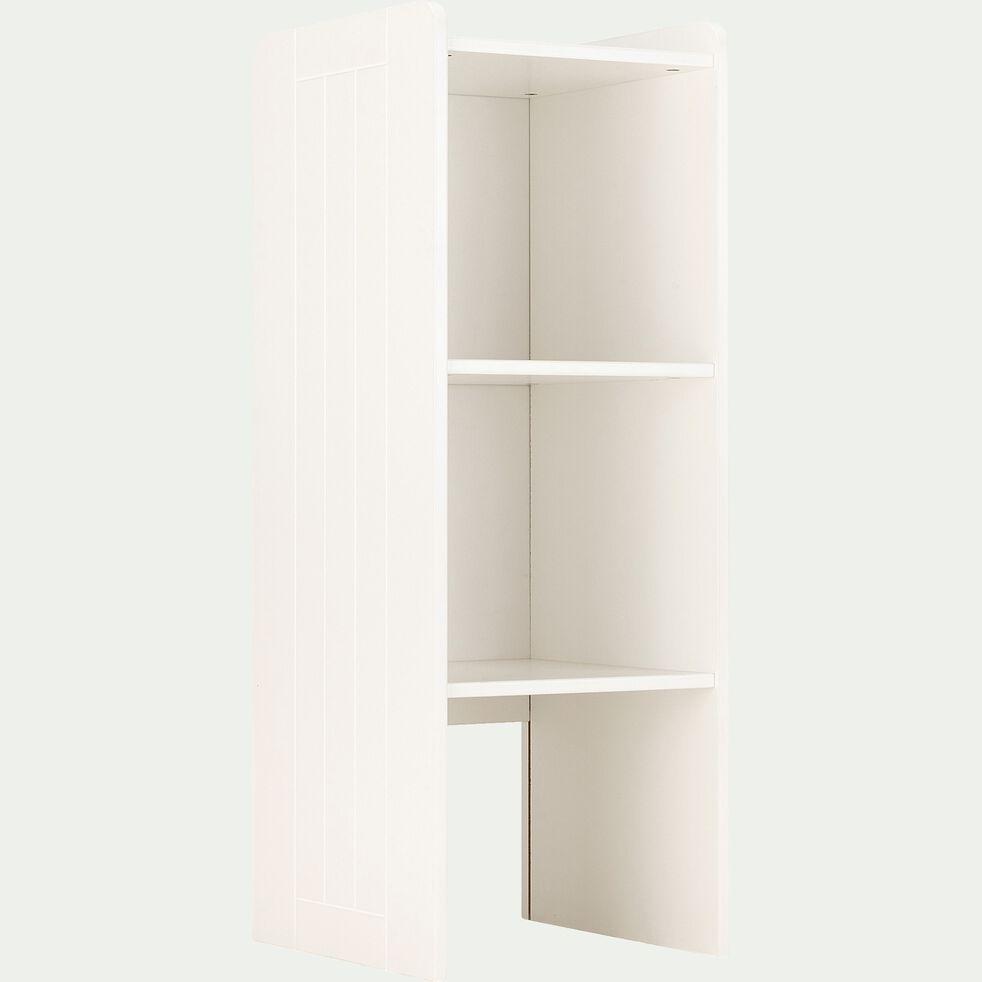 Bibliothèque chambre enfant - blanc H105xP40xl37cm-POLLUX