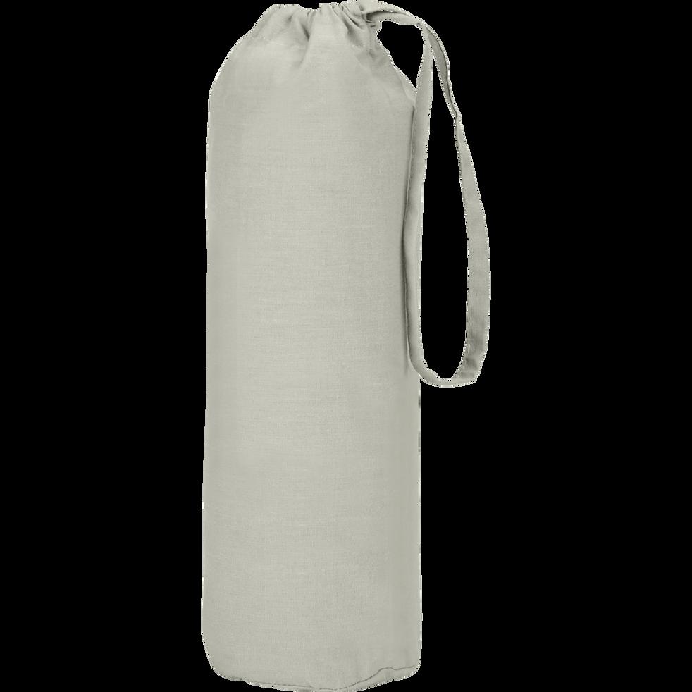 Drap housse en coton Vert olivier 160x200cm -bonnet 30cm-CALANQUES