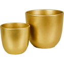 Pot en céramique doré (plusieurs tailles)-Tusca