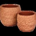 Cache-pot en terre cuite orange brique D15 cm-Essaouira