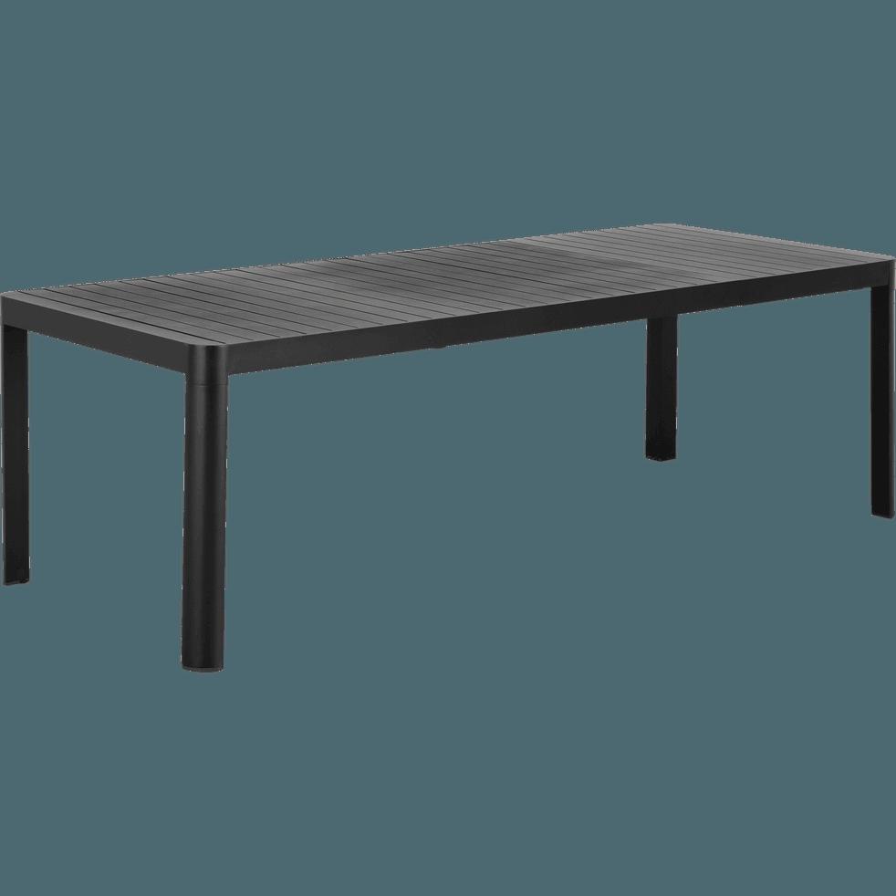 Table de jardin extensible en aluminium noir (8 à 10 places ...
