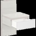Table de chevet blanche 1 tiroir-BROOKLYN