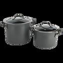 Faitout anti-adhésif gris D20cm (tous feux dont induction)-ESCAL