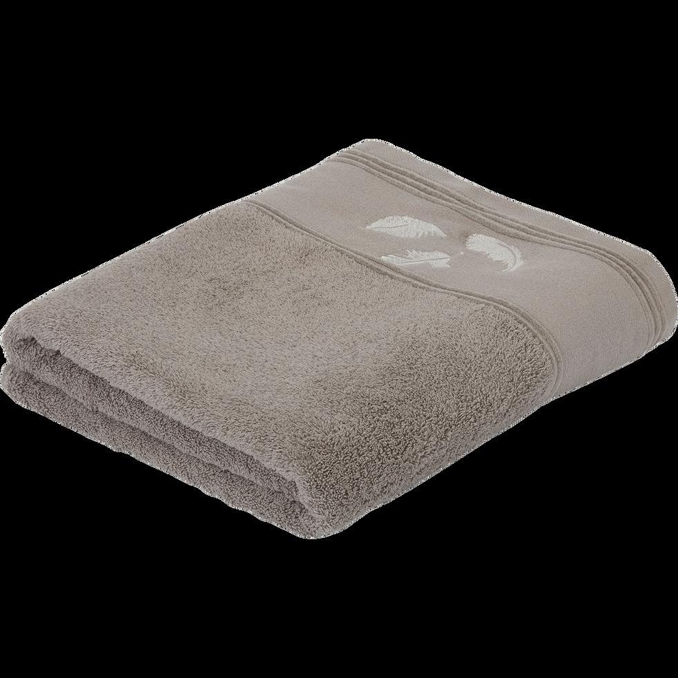 Drap De Bain 100x150cm A Motifs Plume Serviettes De Toilettes