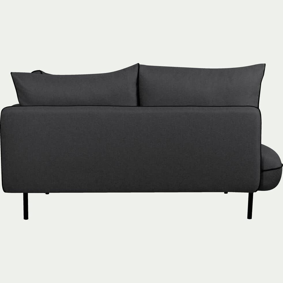 Canapé d'angle fixe gauche en tissu gris calabrun-SAOU