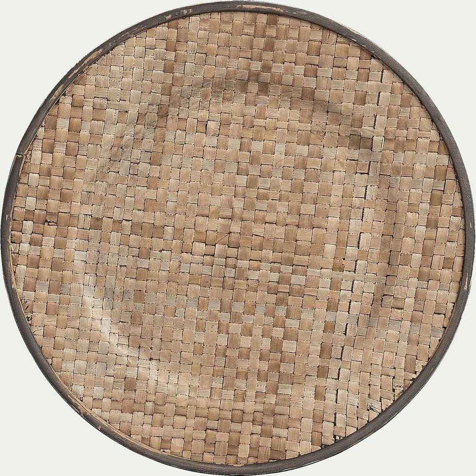 Assiette de présentation en osier - D33xH2cm naturelle-CALDU