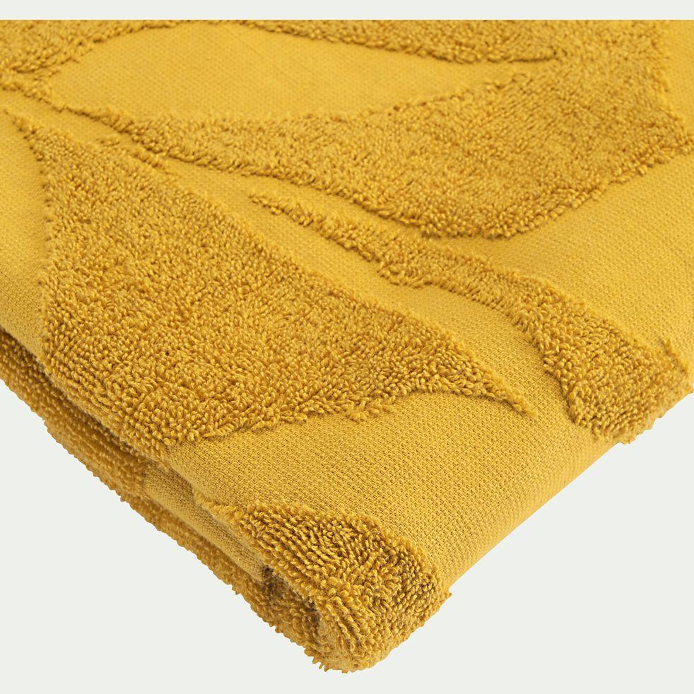 Lot de 2 serviettes invité en coton - jaune argan 30x50cm-Ryad