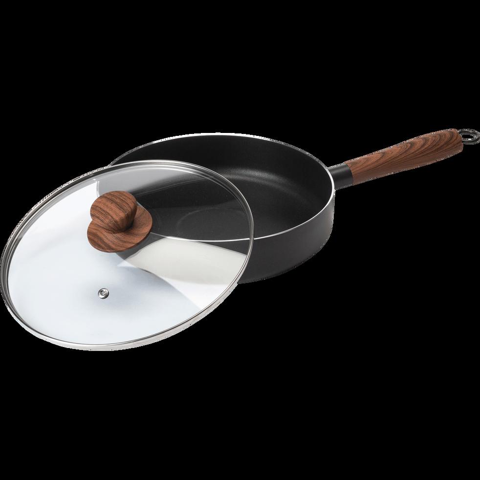 Sauteuse en aluminium noir D24cm (tous feux dont induction)-PADENA