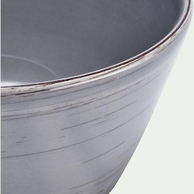 Bol en faïence gris clair effet patiné D14cm-GASTON