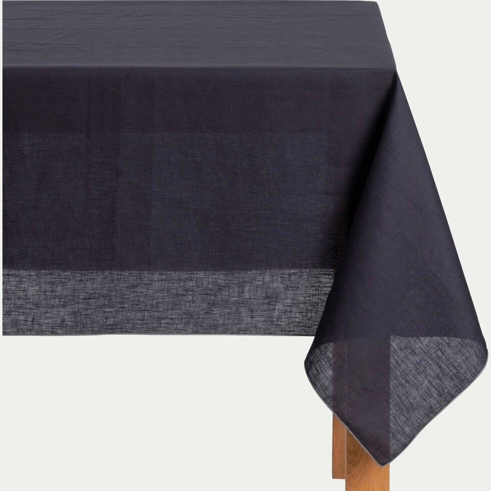 Nappe en lin et coton gris calabrun 170x300cm-MILA